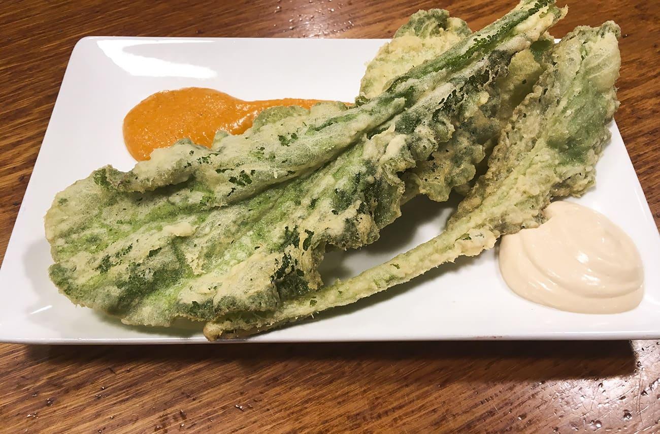 tempura de borraja el angel del pincho