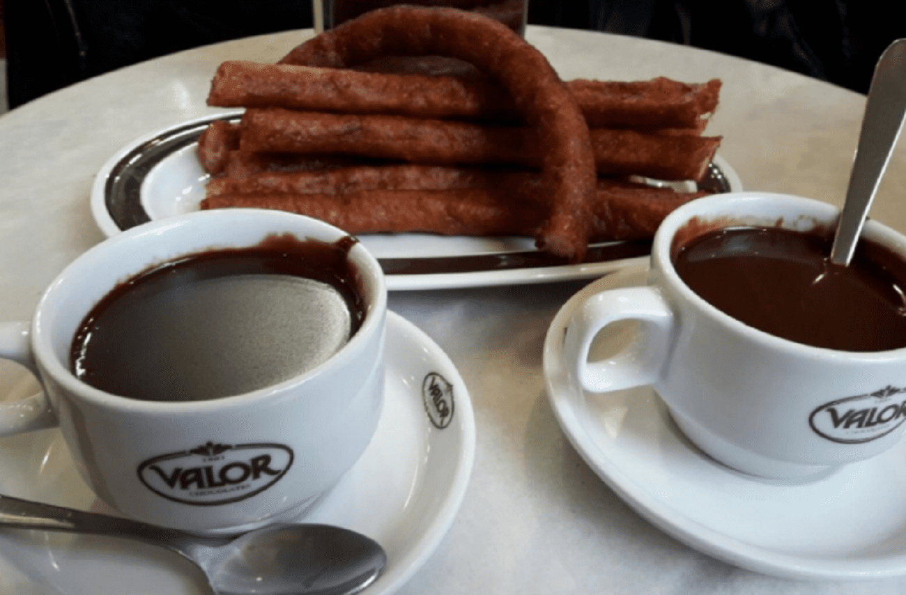Chocolate con churros en Zaragoza - Chocolatería Valor