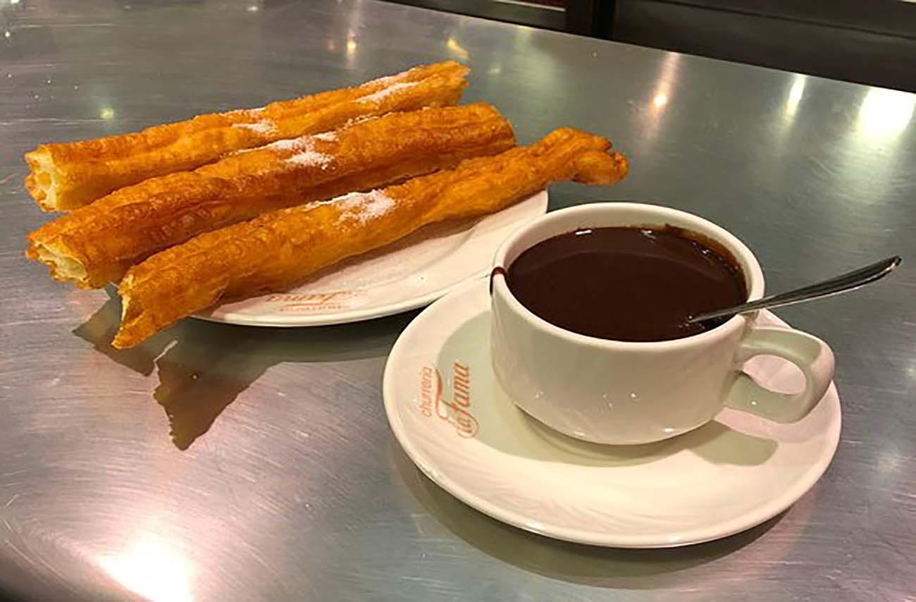 Chocolate con churros en Zaragoza - La Fama
