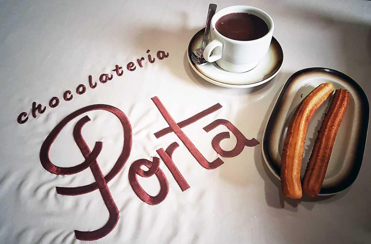 Chocolate con churros en Zaragoza - Porta